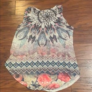 Tops - Tribal style tank top